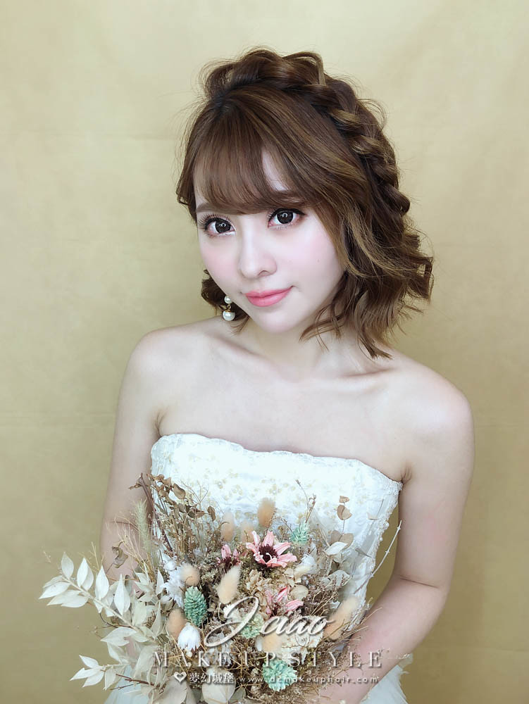 【新秘婕喬】新娘造型創作 / 短髮-編髮造型
