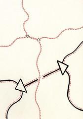 Mounted (Daniel Ari Friedman) Tags: daniel ari friedman black ink pen paper draw drawing creative illustration image figure science art philosophy red color artistic geometry topology mathematics cartoon freehand freedraw craft