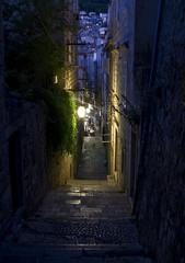 Nighttime in Dubrovnik (LunarKate) Tags: eu european union europeanunion europe croatia hrvatska dubrovnikneretva dubrovnik city cityscape september 2018 nikon d3100 dslr beautiful travel traveling tourism night nighttime street alley lantern house houses
