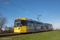 Manchester Metrolink 3119 (Mike McNiven) Tags: manchester metrolink tram metro lightrail lrv baguley manchesterairport airport victoria marketstreet southmoorroad hollyhedgeroad