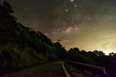 Milky Way in Koh Lanta (free3yourmind) Tags: koh lanta island thailand milky way night sky stars starry road forest trees