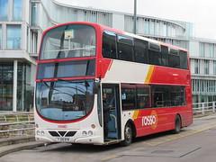 Rosso 2793 (FJ08BYM) 30102018 (Rossendalian2013) Tags: transdevblazefield transdev rossendaletransport rosso bus rochdale interchange volvo b9tl wright eclipsegemini yorkshirecoastliner fj08bym