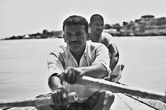 DSC_0391 (dpramanik92) Tags: boat boatman ganges varanasi river blackwhite