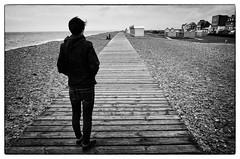 Cayeux-Sur-Mer. France. Vers l'infini et au-delà !  © Dom Janasz (Dom Janasz) Tags: noiretblanc blackwhite bw baiedesomme ricohgr plage