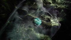 Green Planet (luceymark) Tags: green space planet nebula galaxy background star fantasy science illustration alien sky abstract graphic light universe outer system astronomy celestial fiction blue design moon