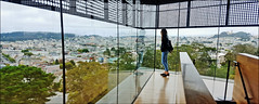 Looking out over her city - de Young Museum, San Francisco, CA (TravelsWithDan) Tags: candid woman museum overlook city urban deyoungmuseum goldengatepark sanfrancisco california usa canong3x