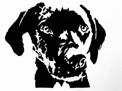 Blackwork (Pen on A3 Paper) (kerricheung) Tags: black blackpoint contrast pointillism draw linework blackwork dortwork pendrawing pen tattoodesign tattoo design artwork artist art dog puppy petportrait pet