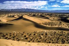 Death Valley National Park, California: The Dunes (rocinante11) Tags: deathvalley nationalpark stovepipewells dunes sanddunes california unitedstates film slidefilm filmcamera desert mesquiteflat dvnp fujifilm fujiprovia breathtakinglandscapes