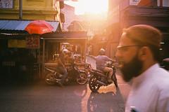 (Hem.Odd) Tags: malaysia kualalumpur muslim motorbike goldenhour sunset sunlight agfavista400 olympusxa3 shop