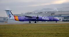flybe Dash8-Q400 G-JECY taking off from Edinburgh, 23/12/18 (andyflyer) Tags: flybe dash8q400 gjecy edi egph edinburghairport aircraft aeroplane
