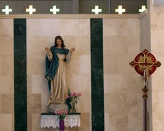 Mary Mother of Jesus (Prayitno / Thank you for (12 millions +) view) Tags: roman catholic church st piux x sait pius ten tenth 10 fort ft lauderdale fl florida mary maria statue blue red crucifix beautiful young marian devotion