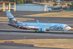 N570AS (LAXSPOTTER97) Tags: alaska airlines boeing 737 737800 cars livery paint scheme n570as cn 35185 ln 2212 follow us disneyland with aviation airport airplane kpdx