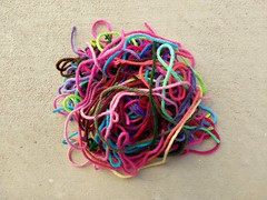 Yet another collection of yarn scraps (crochetbug13) Tags: crochet crocheted crocheting scrapyarn magicball