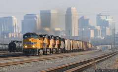 A Hazy Shade of Winter (jamesbelmont) Tags: unionpacific mronp saltlakecity northyard ge ac4400cw skyline train railroad railway locomotive yard