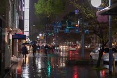 One Rainy Night in Osaka (Hideki Iba) Tags: nikon d850 58mm night rain rainy osaka japan urban city