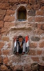 Yemen (Rod Waddington) Tags: middle east yemen yemeni boy house window shutters stone stonework traditional tribe tribal culture cultural child village