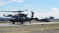 HAWK NEST (Kaiserjp) Tags: usarmy blackhawk helicopter military avgeek puyallup grayaaf kplu formation taxi backlit uh60 h60 uh60m