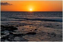 burning horizon (kurtwolf303) Tags: himmel horizont kanaren küste meer nikond5500 sonne sonnenuntergang teneriffa wasser kurtwolf303 tenerife spanien spain horizon sunset sundown orange sky sun water ocean sea islascanarias seascape nature natur seaview