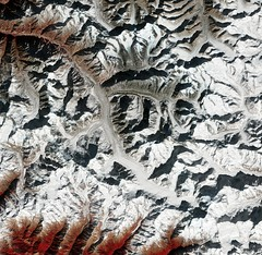 Gangotri, India (europeanspaceagency) Tags: esa europeanspaceagency space universe cosmos spacescience science spacetechnology tech technology earthfromspace observingtheearth earthobservation earthexplorer satelliteimage copernicus sentinel chaukhambapeak india asia gangotri gomukh hindu bhagirathiriver tibetanplateau gangotriglacier