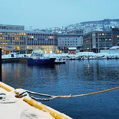 Arctic town (narnejo) Tags: harstad harbor harbour havn troms vinter winter