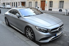 Mercedes S63 AMG (Monde-Auto Passion Photos) Tags: voiture vehicule auto automobile mercedes s63 amg coupé gris grey sportive rare rareté france paris