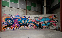 "Dépucelage de Terrain...👉🍑😻 (""skeba"") Tags: virgin spot wall urbex graff graffiti lyon bask"