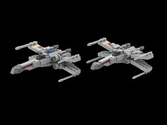Mini X-Wing Update (Cpt. Ammogeddon) Tags: empire star war space battle moc update red 5 luke fighter light custom lego mini collect wing rebel fight sky air s xwing x grey tan model design scale midi brick block work progress mod episode vehicle craft toy kid adult play teen white