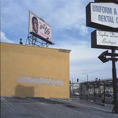 Last OG (ADMurr) Tags: la 3rd street signs billboard og rolleiflex 28 f zeiss planar kodak ektar dad055