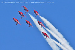 9920 7 ship loop R1 R2 R3 R5 R6 R7 R9 (photozone72) Tags: raf rafat redarrows reds redwhiteblue aviation aircraft jets hawk canon canon100400f4556lii canon7dmk2 7dmk2 scampton lincolnshire