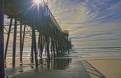 Pier Walk 14-1-8-19 (rod1691) Tags: oceanside california pier lowtide beach surf clouds canon 50d
