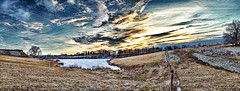 8R9A6158-61PRtazl1TBbLG2ERk (ultravivid imaging) Tags: ultravividimaging ultra vivid imaging ultravivid colorful canon canon5dm3 clouds sunsetclouds sunset scenic sky winter ice snow fields farm field vista countryscene pennsylvania pa panoramic painterly path lake