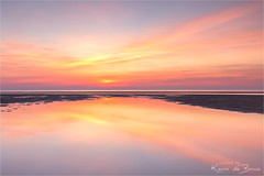Feeling happy! (karindebruin) Tags: katja maasvlakte nederland noordzee northsea thenetherlands zonsondergang zuidholland laagwater lowtide sunset