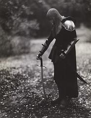Valour (micalngelo) Tags: portrait valour analog filmphoto warrior medieval foma112paper aeroektarlens aeroektar speedgraphic largeformat