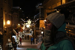 IMG_3183 (huguesasnard) Tags: quebec city canada petit champlain rue street christmas winter hivers cold night castle tower snow neige chateau canoneos100d