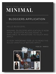 MINIMAL - Blogger Application -CLOSED- (MINIMAL Store) Tags: minimal blogger application mainstore decoration jewelry clothes bloggers bloggersearch lookingforbloggers bloggerssl secondlife second life sl slblog blogsl bloggerapplication