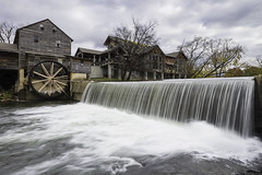 The Old Mill (Longleaf.Photography) Tags: old mill wheel barn pigeonforge tn gatlinburg smokies gsmnp waterfall dam stream river christmas