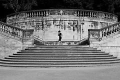 Stairs #4 (lesphotosdepatrick) Tags: streetphotography fineeyemagazine fujifilm fujix100f running jogging jardinsdelafontaine nimes suddefrance occitanie stairs escaliers symetrie symmetry