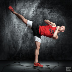 Tomi 04 (WF portraits) Tags: svk man mal model studio portrait full kickbox sports fitness gym muscles red nike black