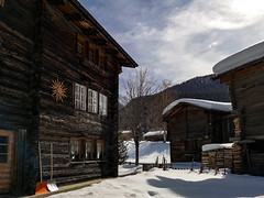 Mainly Wood (cs_one) Tags: chalet reckingen hut landscape winter wooden architecturalelement switzerland cabin wood valais wallis light village home weather snow barn tree noperson obergoms house roof goms daylight building europe rustic architecture kantonwallis schweiz ch