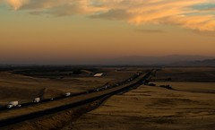 open road take me home... (Alvin Harp) Tags: smokysunset sunset i5 patterson california longhighway october 2017 californiaaqueduct cloudsstormssunsetssunrises traffic lifeontheroad lightroomcc topazai sonyilce7rm2 fe70200mmf28 gmoss14x alvinharp