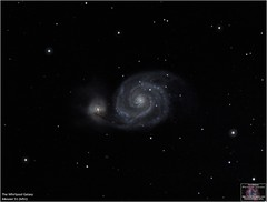 The Whirlpool Galaxy - Messier 51 (The Dark Side Observatory) Tags: tomwildoner night sky space outerspace meade lx90 telescope astronomy astronomer science canon deepsky deepspace weatherly pennsylvania observatory darksideobservatory tdsobservatory earthskyscience carboncounty meadetelescope canon6d m51 messier whirlpoolgalaxy canesvenatici spiralgalaxy galaxy