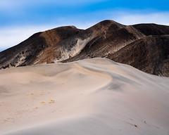 Striped Hills and Dunes (Kurt Lawson) Tags: california death deathvalley desert dune dunes evening hidden mountain mountains national nationalpark park range remote saline sand spur stripes valley wilderness
