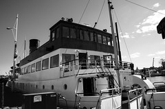 Stockholm Ferry (Bill Herndon) Tags: bw flickr k30 pentax stockholm sweden blackandwhite boat ferry monotone published water wrherndon stockholmcounty se