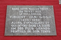 Maison du boulanger Denis (Brian Aslak) Tags: wasmes colfontaine hainaut henegouwen wallonie wallonia belgique belgië belgium europe vincentvangogh house plaque sign maisonduboulangerdenis petitwasmes