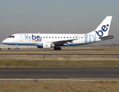 G-FBJH, Embraer ERJ-175STD (ERJ-170-200), c/n 17000351, BE/BEE/Jersey/FlyBe, CDG/LFPG 2019-02-15, taxiway Bravo-Loop. (alaindurandpatrick) Tags: be bee jersey flybe airlines gfbjh cn17000351 embraer embraererj175 erj175 embraerregionaljet jetliners airliners cdg lfpg parisroissycdg airports aviationphotography