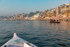 Varanasi, India (Ninara) Tags: hindu india varanasi holycity ganges ghat boat row boatride water uttarpradesh kashi benares
