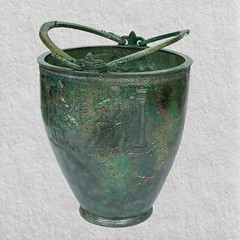 Bronze situla from the Vassil Bojkov Collection (thracefoundation) Tags: ancient art vassilbojkovcollection mythology thrace ancienthistory artifact artefact history thracefoundation ancientgreece situla