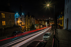 Stars and stripes....... (Dafydd Penguin) Tags: light trails after dark car night shots hawks nighthawks street urban city town district st michaels hill bristol cotham uk sunstars stars stripes slow shutter speed long exposure tripod leica m10 21mm super elmar f34