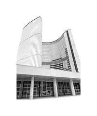 Toronto City Hall (JamesAnok || ThetaState) Tags: archidose viljorevell blackandwhite tower precastconcrete concrete cityhall architecture contrast monochrome 2019 march canada ontario toronto