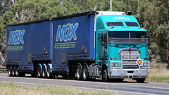 North on the Newell (2/6) (Jungle Jack Movements (ferroequinologist) all righ) Tags: thompson k200 toll nqx black clare freightliner mack trident richers timber de gunst bundaberg western star 4964 ks freighters scania parkes nsw new south wales sydney melbourne brisbane newell highway horsepower big rig haul freight cabover trucker drive transport lorry hgv wagon road semi trailer deliver cargo interstate articulated vehicle load freighter ship motor engine power teamster truck tractor prime mover diesel injected driver cab cabin beast wheel exhaust double b grunt australia australian